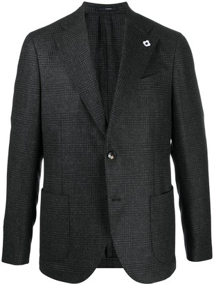 Lardini Plaid Wool Blazer
