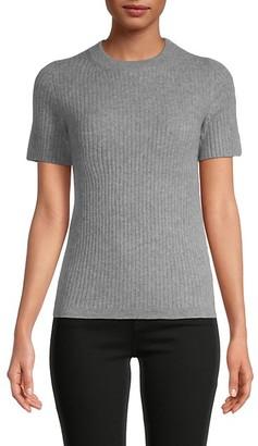 Saks Fifth Avenue Rib-Knit Cashmere T-Shirt