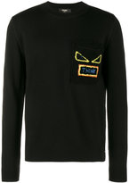 Fendi Think shearling pocket jumper