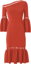 Jonathan Simkhai Chainlink Fit-and-Flare Knit Dress