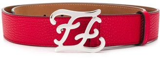 Fendi Karligraphy buckle belt