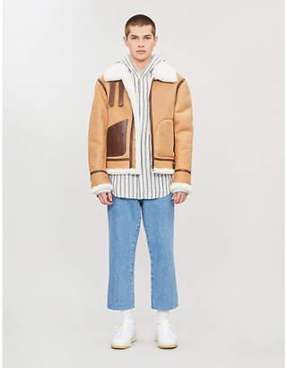 Loewe Shearling leather aviator jacket