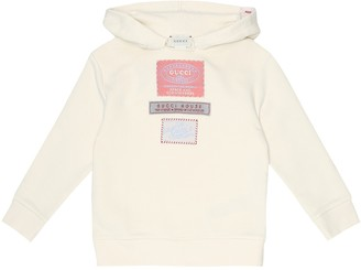 Gucci Kids Labels cotton-jersey hoodie