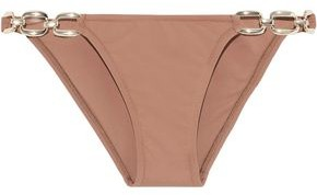 Melissa Odabash Melbourne Chain-embellished Cloque Low-rise Bikini Briefs