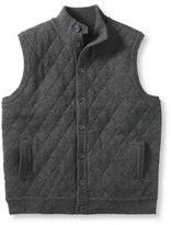L.L. Bean Men's Lambswool Sweater, Quilted Vest