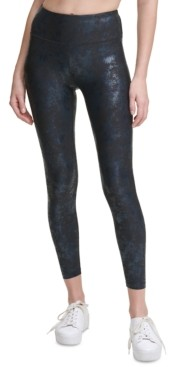 Calvin Klein Metallic-Print High-Waist Leggings
