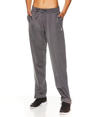 Reebok Women's Leggings MEDIUM - Medium Gray Logo Track Pants - Women