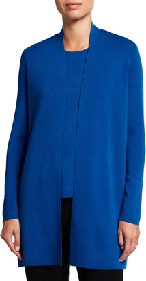 Eileen Fisher Petite Ultra Fine Merino Wool Long Cardigan