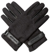 Giorgio Armani Wool And Leather Gloves