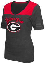 Women's Stadium Georgia Bulldogs College Twist V-Neck T-Shirt