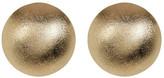 Rivka Friedman 18K Gold Clad Satin Button Post Earrings