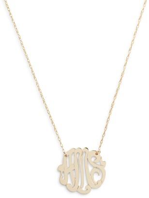Jane Basch Designs Script Monogram Necklace