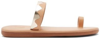 Ancient Greek Sandals Kyma Leather Slides - Tan Gold