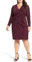 Eliza J Plus Size Women's Faux Wrap Jersey Dress