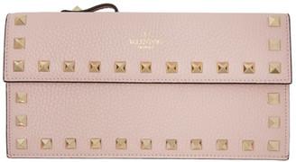 Valentino Pink Garavani Rockstud Pouch Wallet