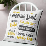 The Drifting Bear Co. Personalised 'Amazing Dad' Father's Cushion Home Gift