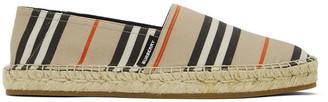 Burberry Beige Icon Stripe Alport Espadrilles