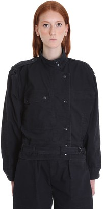 Etoile Isabel Marant Zonca Casual Jacket In Black Cotton