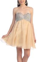 Champagne Sequin Dresses - ShopStyle