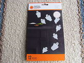 Martha Stewart Halloween Glittery Ghost Silhouettes Package Of 12