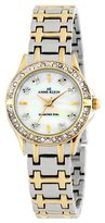Anne Klein Women's 109157MPTT Diamond and Swarovski Crystal Accented Two-Tone Bracelet Watch