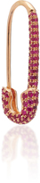 Anita Ko Safety Pin Earring with Ruby