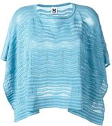 M Missoni cape style top - women - Cotton/Polyamide/Metallic Fibre - One Size