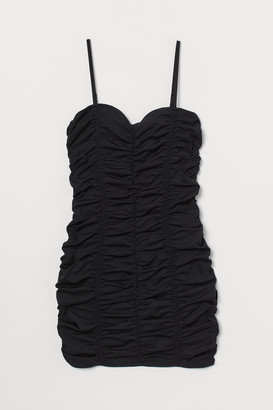 H&M Gathered Dress - Black