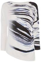 Karen Millen Draped Abstract Print Top
