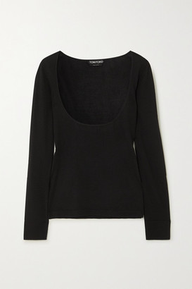 Tom Ford Cashmere And Silk Blend Top - Black