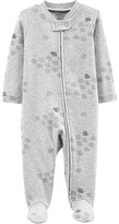 Carter's Little Planet Organic By Little Planet Organic by Baby Boy or Girl Unisex Interlock Cotton Zip Up Sleep 'N Play Pajamas