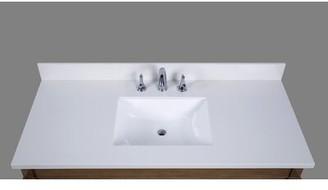 "Thassos 49"" Single Bathroom Vanity Top Renaissance Vanity"