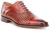 Magnanni Men's Aden Cap Toe Woven Oxfords