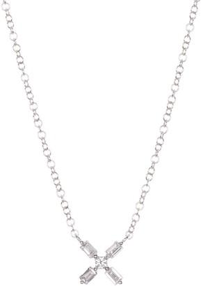 Ron Hami 14K White Gold Diamond X Pendant Necklace - 0.17 ctw