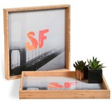 DENY Designs 'Golden Gate Noir' Decorative Serving Tray