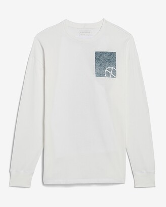 Express Double Logo Long Sleeve Graphic T-Shirt