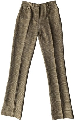 Martine Sitbon Brown Wool Trousers for Women Vintage