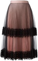 Christopher Kane pleated tulle skirt - women - Silk/Nylon/Polyamide/Acetate - 40