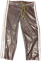 adidas Silver Spandex Trousers for Women