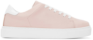 Joshua Sanders Pink and White Square Toe Sneakers