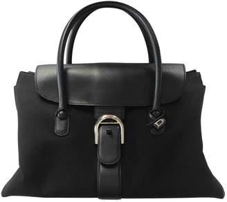 Delvaux Le Brillant Black Cloth Handbags