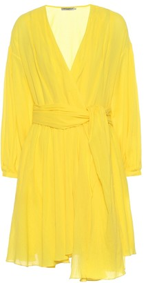 Three Graces London Carina cotton wrap dress