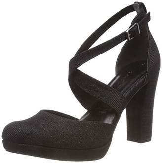 Tamaris Women's 24416-21 Ankle Strap Heels, Black (Black Glam 43), (39 EU)