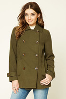 Forever 21 FOREVER 21+ Double-Breasted Pea Coat