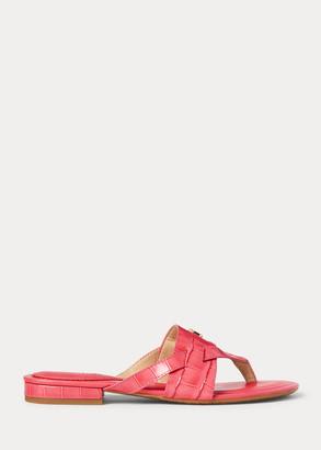 Ralph Lauren Rosalind Leather Sandal
