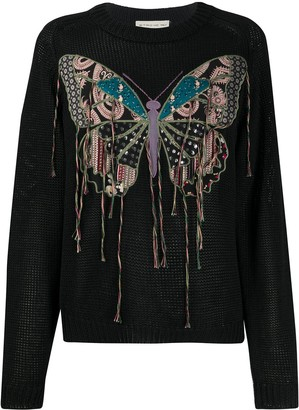 Etro Embroidered Butterfly Sweater