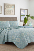 Tommy Bahama Turtle Cove Twin Quilt & Sham 2-Piece Set - Blue