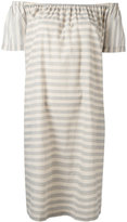 Steffen Schraut striped off the shoulder dress - women - Cotton - 32