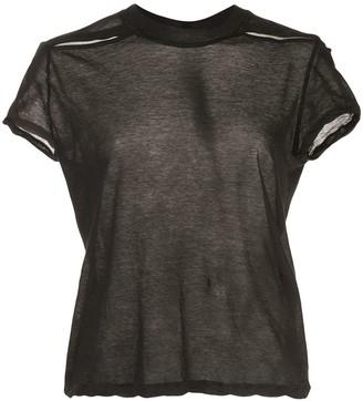 Rick Owens sheer short sleeved T-shirt