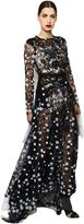 Antonio Marras Embroidered Macramé Lace Long Dress